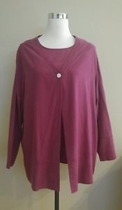 Roamans womens top blouse 2 pieces size B0