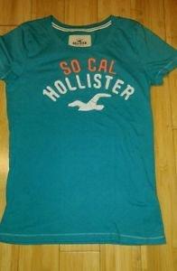 Hollister kids print green t-shirt top tee size M