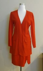 Womens skirt suit size M red 1-018