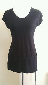 Sixty nine womens blouse sleeveless shirt sequim collar embellished sz XL black