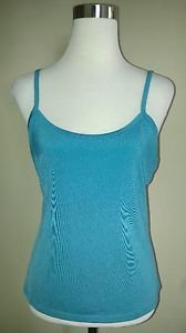 Womens tank top cami size M turquoise