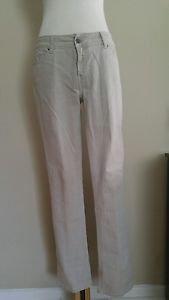 """Zara basic womens jean pant waist 34"""" khaki"""