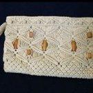vintage womens woven baguette handbag beige