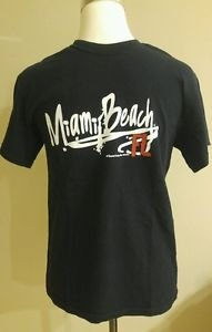 Gildan Miami beach graphic mens tee tshirt size S
