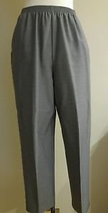 Alfred dunner womens elastic waist 26 to 34 pant trouser size 10 gray