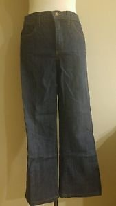 NYD not your daughters jeans farrah flare wide boot womens denim size 4 blue