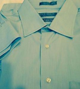Forsyth of Canada mens dress shirt long sleeve size L blue