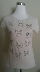 Old navy embellished womens t-shirt top tee size S beige