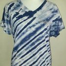 B u m equipment womens blouse tee top size XL blue