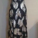 Fashion by Erika womens formal dress embellished sz 4 waist 31 black 1-011
