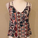 Womens tank top blouse cami size M