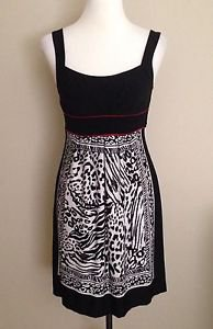 Enfocus studio womens shift tiered dress size 4 black