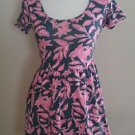 Forever 21 womens summer beach dress size M gray pink