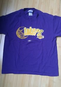 Lakers los angeles t-shirt top size L purple