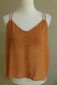 Pretty Good womens top blouse size M orange