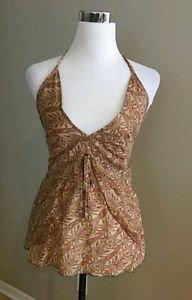 Women beach halter blouse top size S