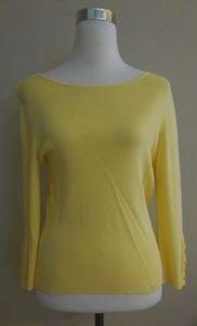 Ann klein womens top blouse size M yellow