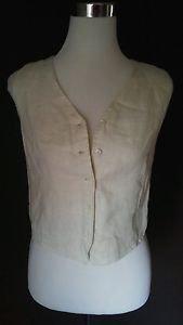 Gap womens girl vest top size S beige