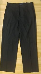 Ann taylor womens pant trouser size 4 waist 28 black no pockets with lining