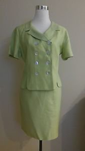 Skirt suit women lois snyder dani max size 10 green