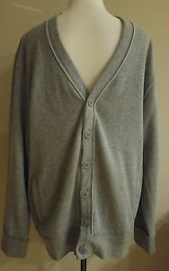Old navy cardigan mens sweater size L gray 2 pockets