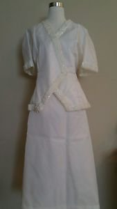 Made by a tailor womens skirt suit sey size XL white
