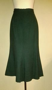 Made by a tailor womens skirt size 27 dark green