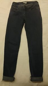 Levis womens jean denim bold curve boot cut skinny size 5M waist 26 dark blue