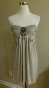 Needle & thread ruched jewels embellished beads stretch womens strapless top S