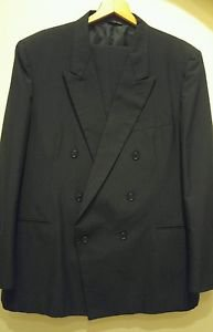 Made by tailor double breasted mens suit size 41 black