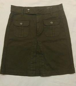 Gap 1969 womens skirt size 28/4 waist 30 green