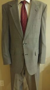 Christian dior mens suit tailored in USA jacket size 42 pant size 31 gray