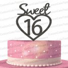 Sweet 16 Cake Topper,16th Birthday Cake Topper,Sweet Sixteen Birthday Girl Cake Topper