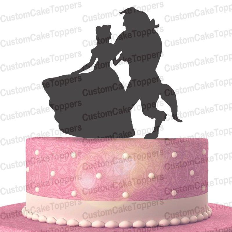 Beauty And Beast Wedding Cake Topper,Disney Cake Topper