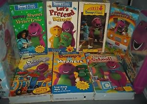 Lot 9 *Rare* Barney & Friends & Sing Along VHS, All Tested & Working
