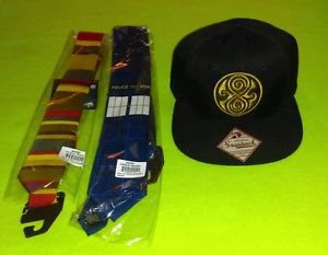 Doctor Who Snapback Cap 115665 (Black) & Dr Who 4th Doctor +Tardis Necktie *NWT*