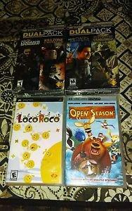 Lot Of 4 PSP UMD Games 2 Syphon Filter Dual Packs -Sealed - 1 Movie -  **READ**