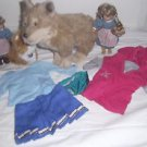 American Girl Lot, 2 Mini Dolls, Dog, Cat, 2 Shirts, 1 Skirt, & 1 Pair Underwear