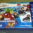 Disney Infinity 2.0 Edition Marvel Starter Pack Super Bundle (Wii U, 2012) *New*