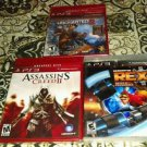 Lot Of 3 PS4 Brand New-Assassins Creed 2 Uncharted 2 Greatest Hits GOY, Etc READ