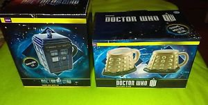 Lot Of 2 Doctor Who Mugs (Dalek Base 3D, Tardis Mug) RARE *NIB*