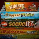 Lot 5 Kids Board Games, Nick, The Simpsons, Sponge Bob, & More, *EUC* Complete