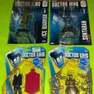 Lot Of 4 Doctor Who Action Figurine Collection Ice Warrior+Sontaran+More BN Read