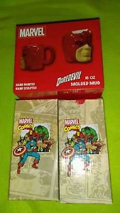 Lot Of 3 Marvel Comics Travel Mugs 16oz (Daredevil, Mighty Thor) **Brand New**