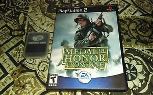 Medal Of Honor Frontline ( Sony Playstation 2, PS2) Used + Memory Card *Read*