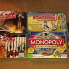 5 Monopoly Boardgames Mixed Lot Vintage To Current *Complete* EUC  Free Shipping