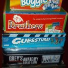 Lot 5 Adult/Family Board/Card Games, Complete, *EUC*, Boggle, Druthers, & More..