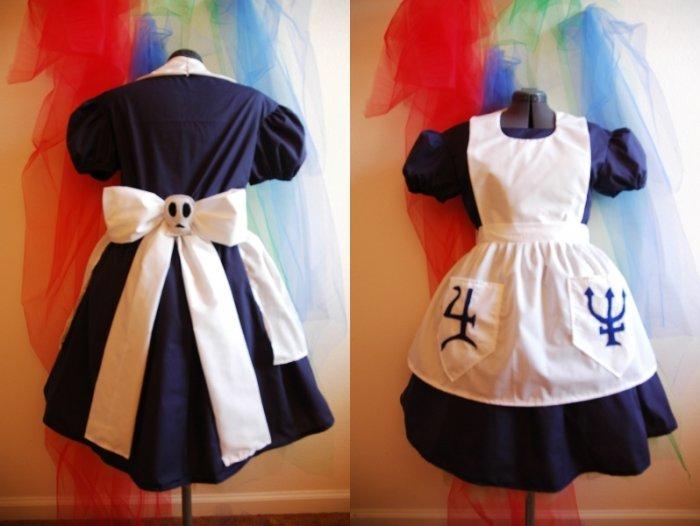 American McGee Spooky Alice In Wonderland Costume Dress Cosplay