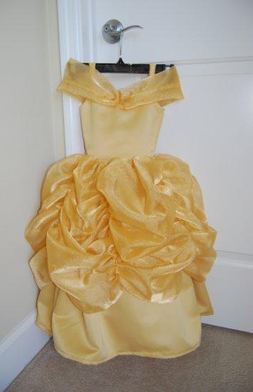 Disney Princess Gown Dress Costume Belle Beauty Beast CHILD