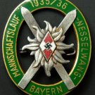 WWII GERMAN HITLER YOUTH HJ ALPINE SKI TROOPS BADGE - RARE